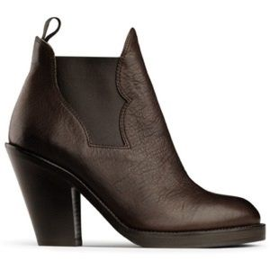 """Acne """"Star"""" Leather Ankle Boots in Brown"""